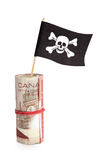 Pirate Flag and Dollar Royalty Free Stock Photo
