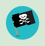 Pirate flag flag icon design Stock Photography