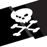 Pirate flag flat design vector Stock Photo