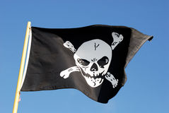 Pirate Flag I - Jolly Roger Stock Photo