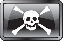 Pirate Flag Icon Royalty Free Stock Photos