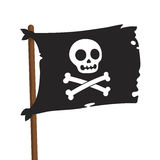Pirate flag illustration Royalty Free Stock Image