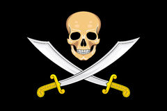 Pirate Flag Jolly Roger Stock Image