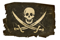 Pirate flag old. Stock Photo