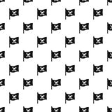 Pirate flag pattern vector Royalty Free Stock Images