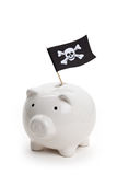 Pirate Flag and Piggy Bank Royalty Free Stock Image