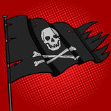 Pirate flag pop art style vector Royalty Free Stock Photos