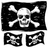 Pirate flag sketch Stock Images