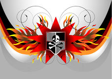 Pirate flag with skull.Banner. Illustration Stock Image