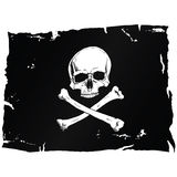 Pirate flag with skull Royalty Free Stock Photos