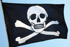Pirate flag, skull and crossbones Royalty Free Stock Photography