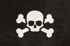 Pirate flag with skull and crossbones Royalty Free Stock Photography