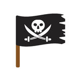 Pirate flag vector illustration . Royalty Free Stock Photography