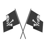 Pirate flag vector. Stock Photography