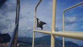 Pirate flag waving stock video