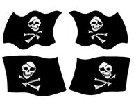 Pirate flags stock illustration