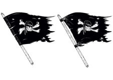 Pirate flags. Abstract vector illustration pirate flags Royalty Free Stock Photography
