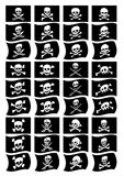 Pirate flags collection Royalty Free Stock Images