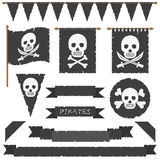 Pirate flags Royalty Free Stock Images