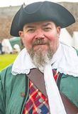 Pirate at Fort George. Pirate in authentic clothes taking part in the `Amazing Ages` event held at Fort George, Ardersier, on 13th August 2017 royalty free stock image