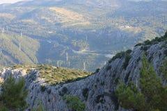 Mirabella fortress in Omis Croatia stock image