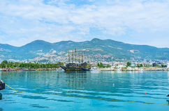 The pirate galleon in Alanya Royalty Free Stock Images