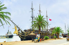 The pirate galleon Stock Photography