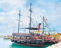 The pirate galleons in Antalya Royalty Free Stock Photography