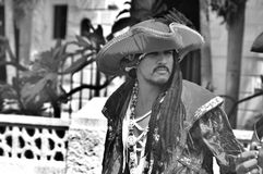 Pirate. GEORGETOWN-CAYMAN ISLAND-NOVEMBER 10: Unidentified man dress as pirate participate a the Pirates Week 2012 from 8 to 18 November on november 10 2012 in royalty free stock image
