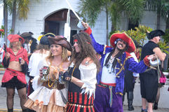 Pirate. GEORGETOWN-CAYMAN ISLAND-NOVEMBER 10: Unidentified man dress as pirate participate a the Pirates Week 2012 from 8 to 18 November on november 10 2012 in stock photography
