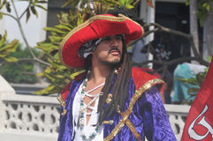 Pirate. GEORGETOWN-CAYMAN ISLAND-NOVEMBER 10: Unidentified man dress as pirate participate a the Pirates Week 2012 from 8 to 18 November on november 10 2012 in royalty free stock photos