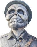 Pirate ghost statue isolate on white background. Royalty Free Stock Photos