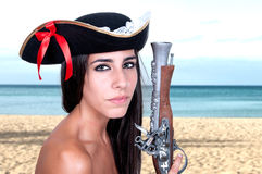 Pirate girl Stock Images