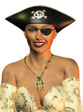 Pirate girl with eye patch Royalty Free Stock Photo