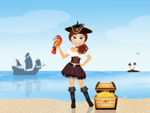 Pirate girl Royalty Free Stock Photos