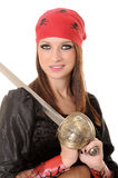 Pirate Girl. A lovely pirate girl with a cutlass Stock Photo