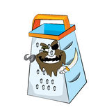 Pirate grater cartoon Stock Images
