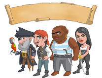 Pirate group. Illustration of a pirate group Stock Images