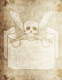Pirate grunge map 4 Stock Image