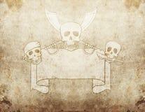 Pirate grunge map 2 Stock Image