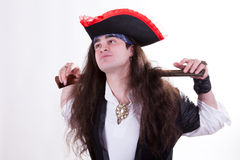 Pirate with a gun Royalty Free Stock Photo