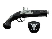 Pirate gun and eye patch Royalty Free Stock Photography