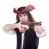 Pirate with a gun on hand Stock Photography