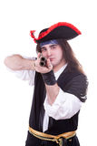 Pirate with gun in hands Royalty Free Stock Photography