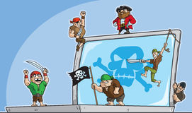 Pirate hack Stock Image