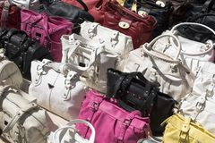Pirate handbags Royalty Free Stock Images