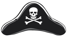 Pirate hat. Black Pirate Hat, Pirate's Hat Stock Photography
