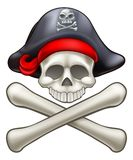 Pirate Hat Cartoon Skull and Crossbones Royalty Free Stock Photo