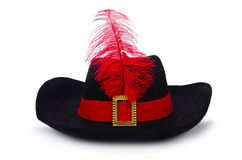 The pirate hat isolated on white Stock Photography