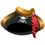 Pirate hat tricorn Royalty Free Stock Photo